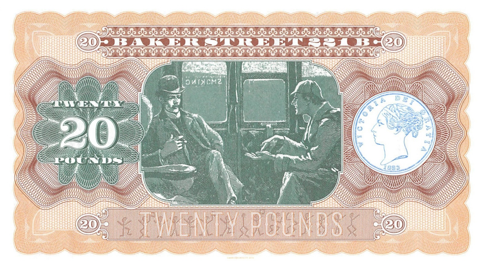 Great Britain 10 pounds UNC /> Sherlock Holmes 2016 Private Issue Kamberra
