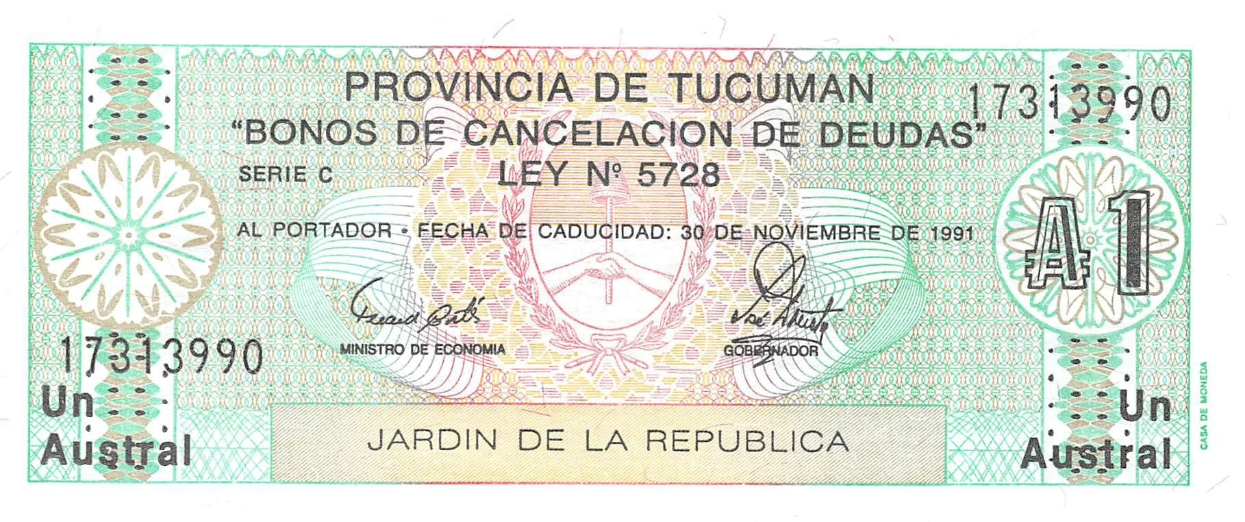 Argentina 1 Austral 1991 Unc