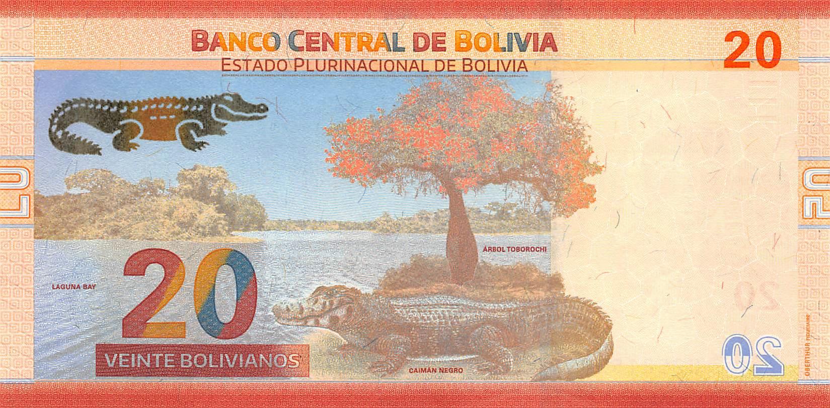 UNC 20 Bolivianos 2018 Bolivia NEW
