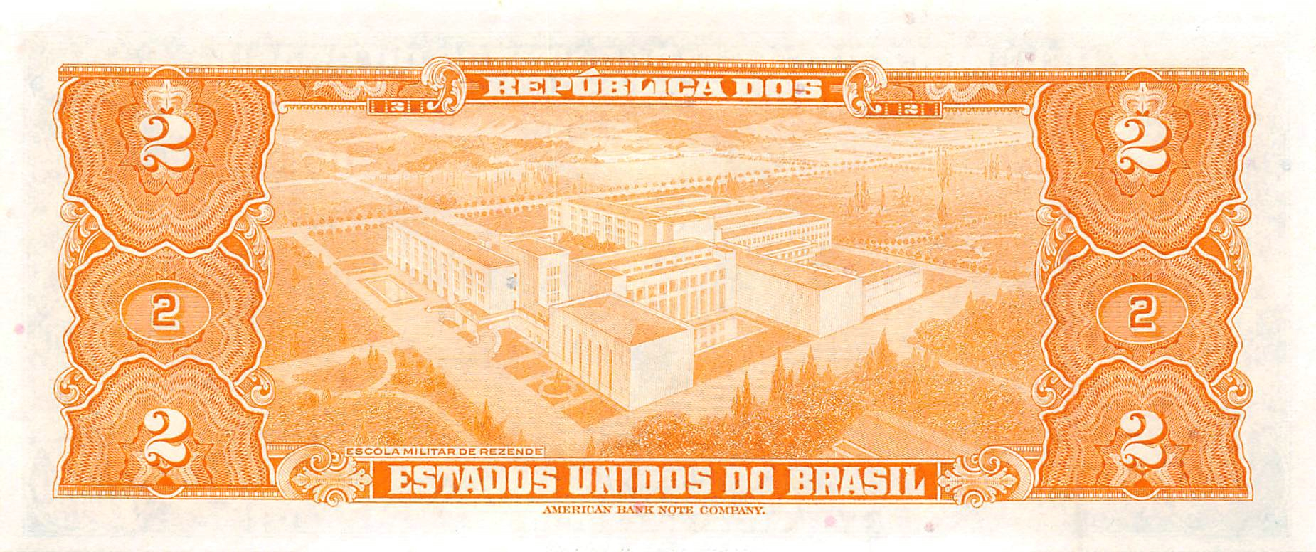 BRAZIL   2 Cruzeiros   1959   UNC  *