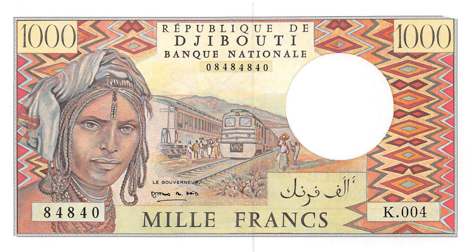 DJIBOUTI 1000 FRANCS 1988 P-37 UNC *//*