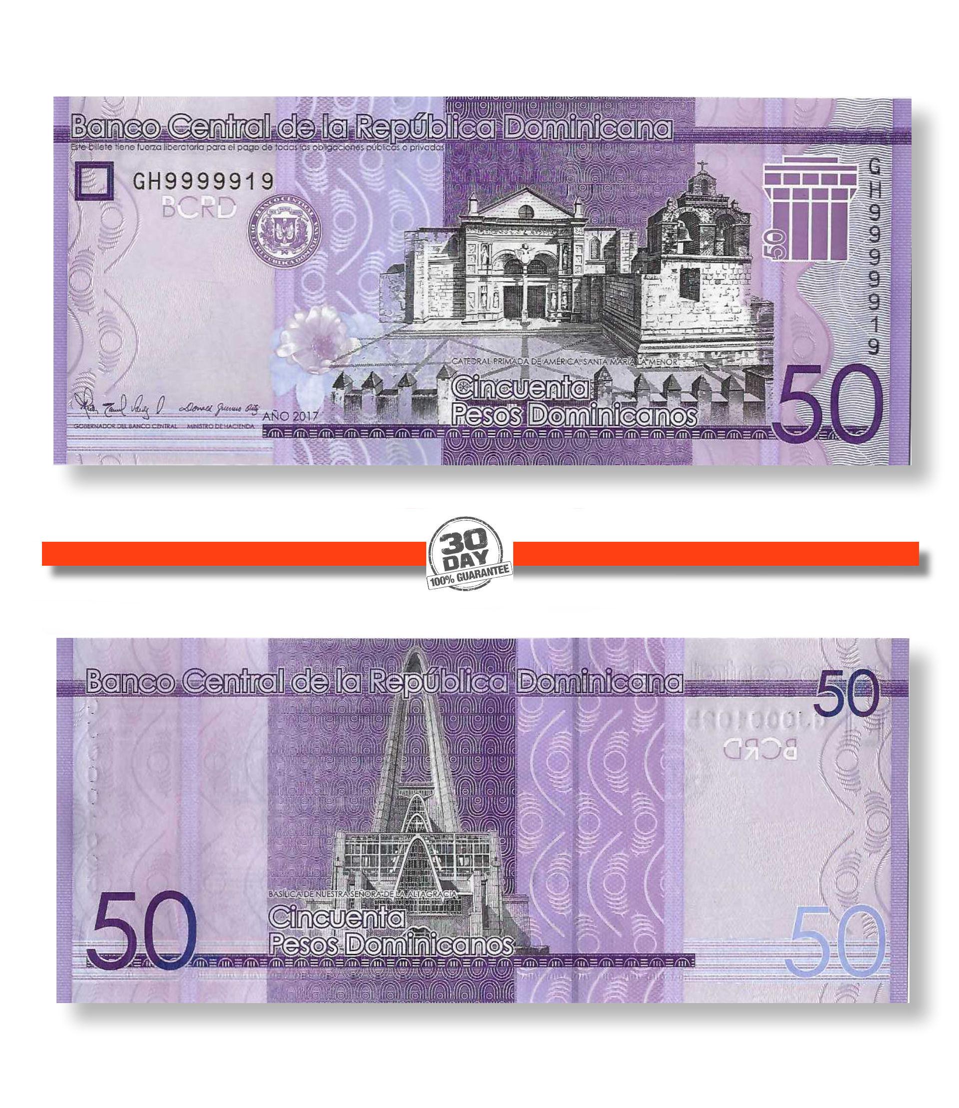 Dominican Republic 50 Pesos Dominicanos P-New UNC /> New design 2019 2017