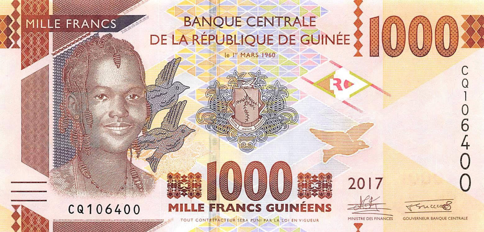 UNC P-NEW Paper Money 2015 Guinea 100 Francs