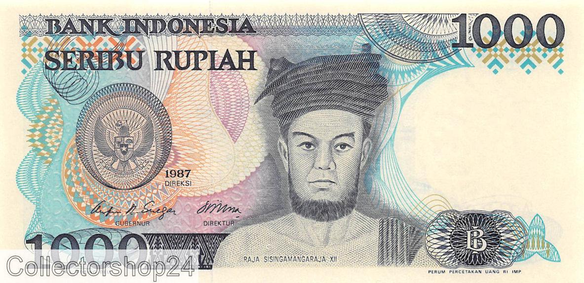 1000 Rupiah Indonesia 1987 Banknote UNC