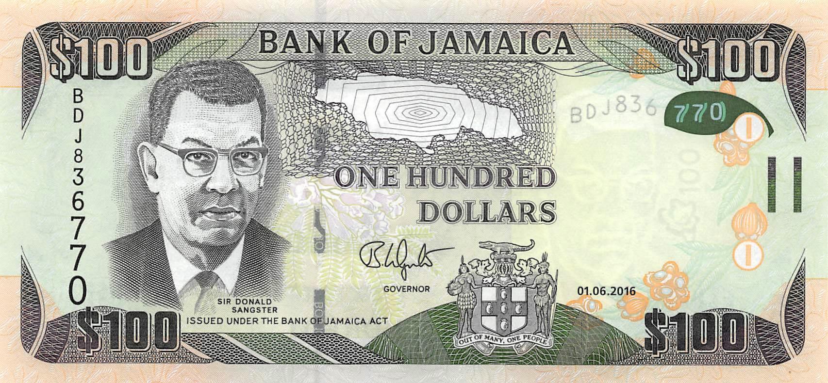 JAMAICA 50 DOLLARS 2013 P 94 HYBRID G/&D UNC