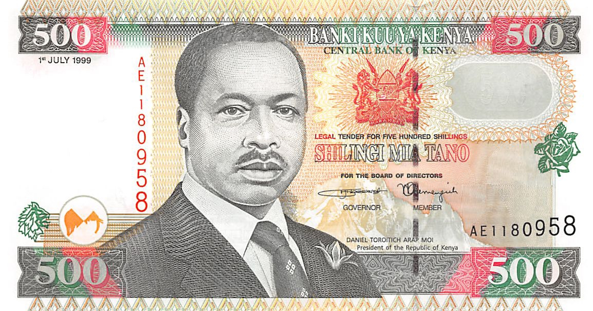 UNC P-30f 1993 Kenya 500 Shillings