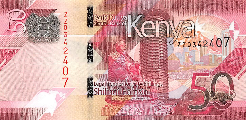 Kenya 50 shillings AD-Prefix 2019 UNC /> New Design P-New