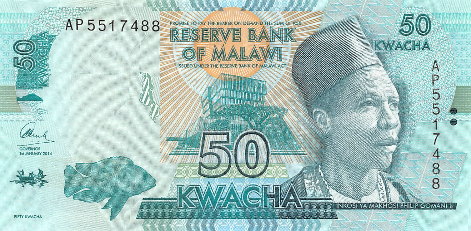 MALAWI 100 KWACHA 2014 2015 P NEW SIGN BLIND FEATURE UNC