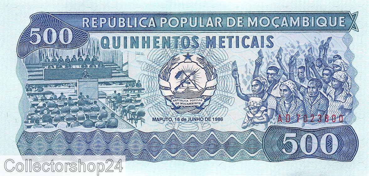 MOZAMBIQUE 500 METICAIS 1989 P 131 UNC