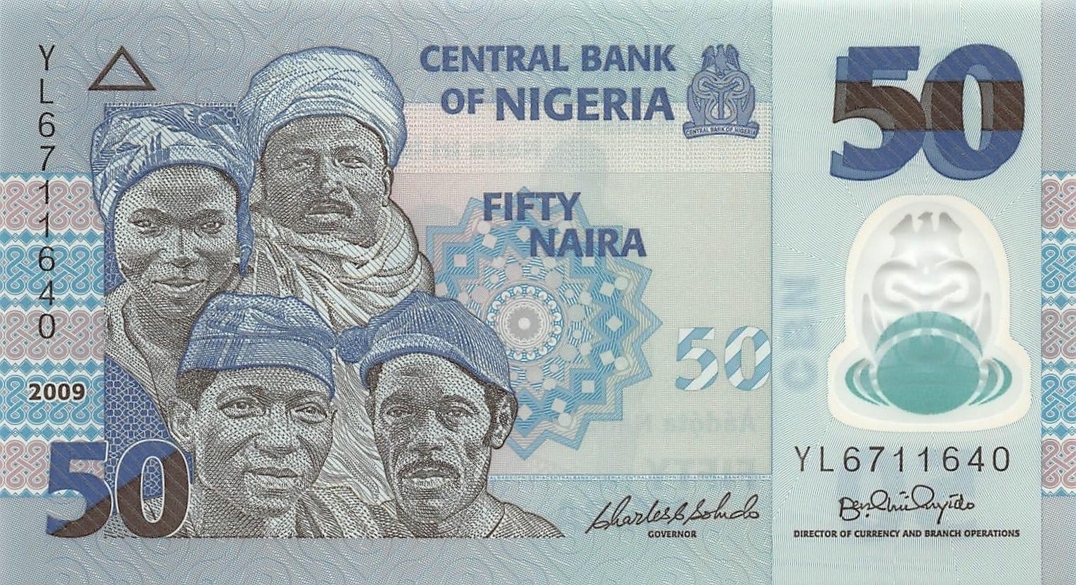 Nigeria 50 Naira 2009 Polymer Unc Pn