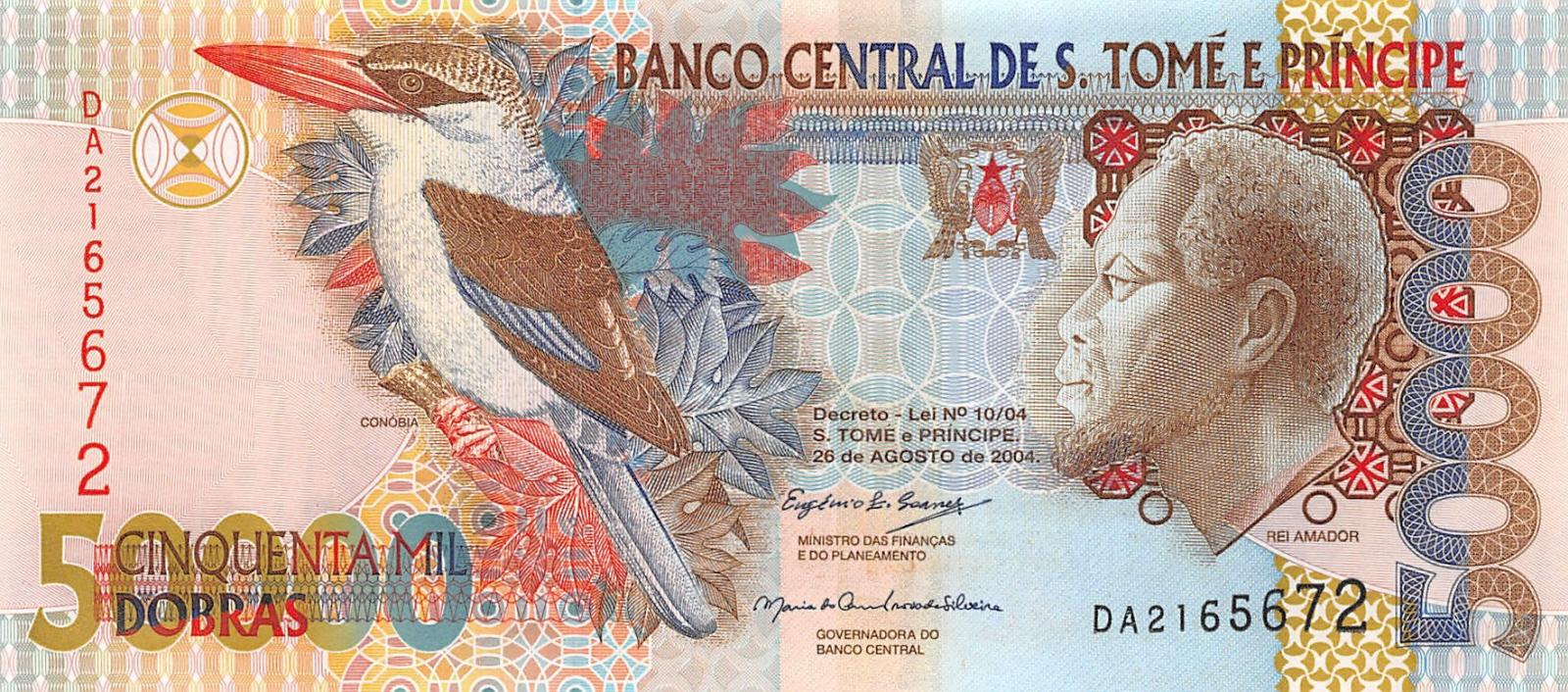 Dobras  p-68d 2010 UNC Saint Thomas /& Prince Sao Tomé e Principe 50000 50,000
