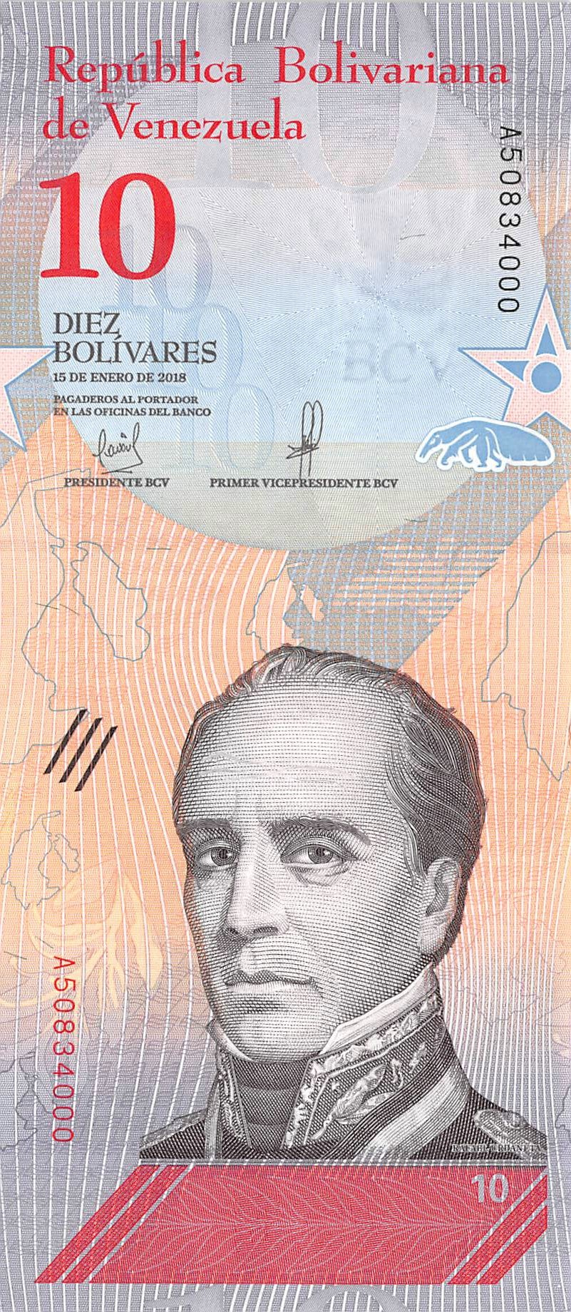 C-Prefix UNC /> Monkey 100 Bolivares Soberanos P-New Venezuela 15-1-2018