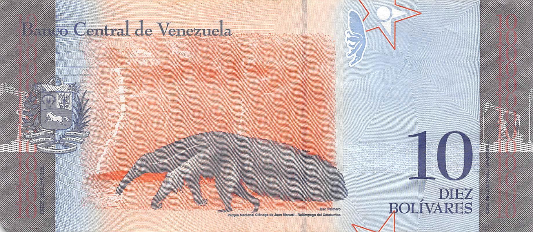 Venezuela 10 Bolivares 2018-01-15 Xf Pn 103a Prefix C