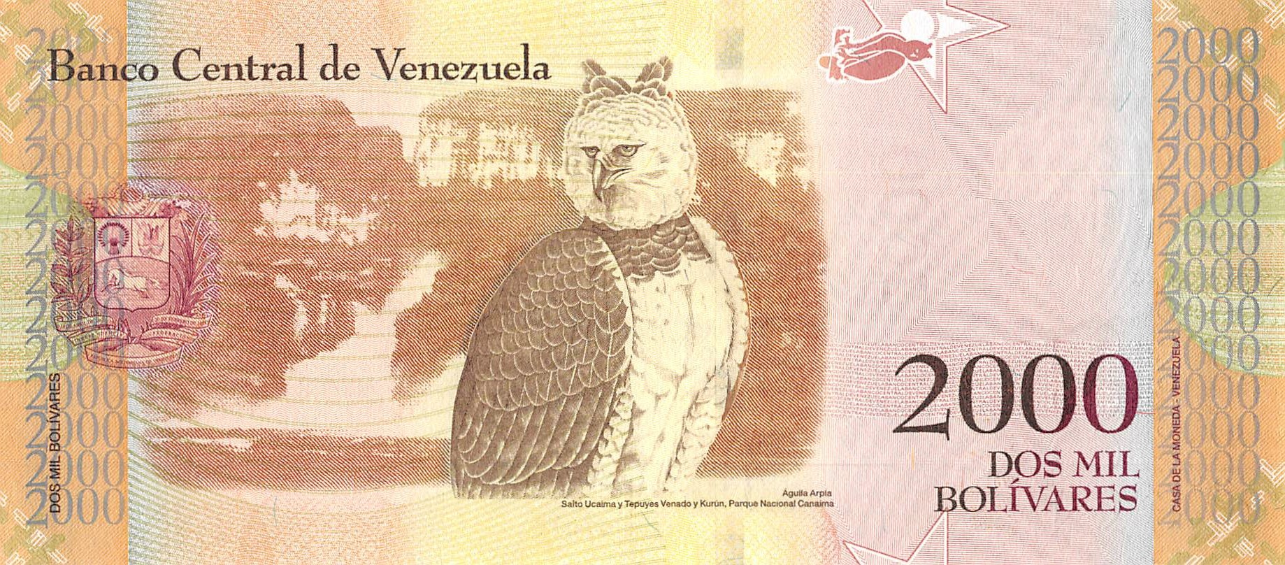 2016 New design UNC SET Venezuela 500;1000;2000;5000 Bolivares 2017 P-New