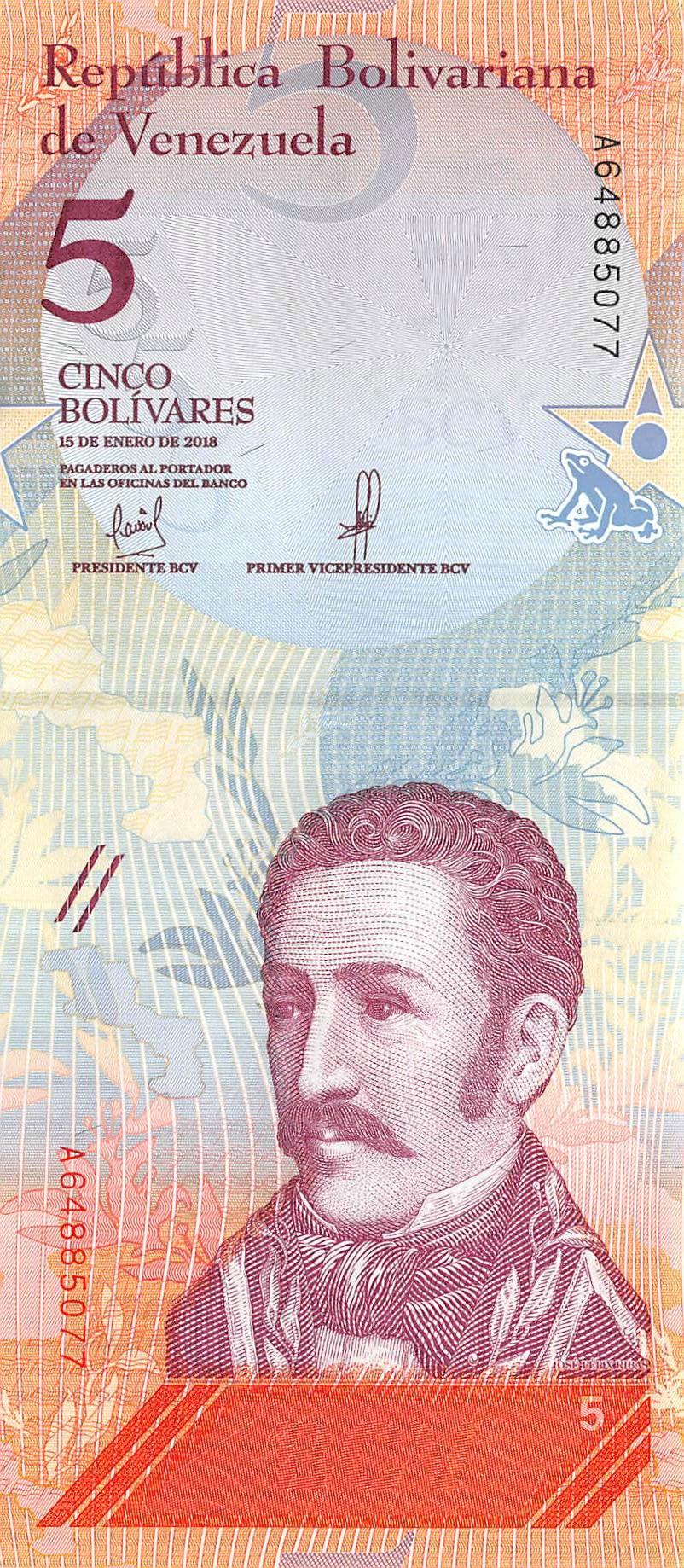 Venezuela 2 Bolivares 2018-01-15 Unc Pn 101a Prefix C