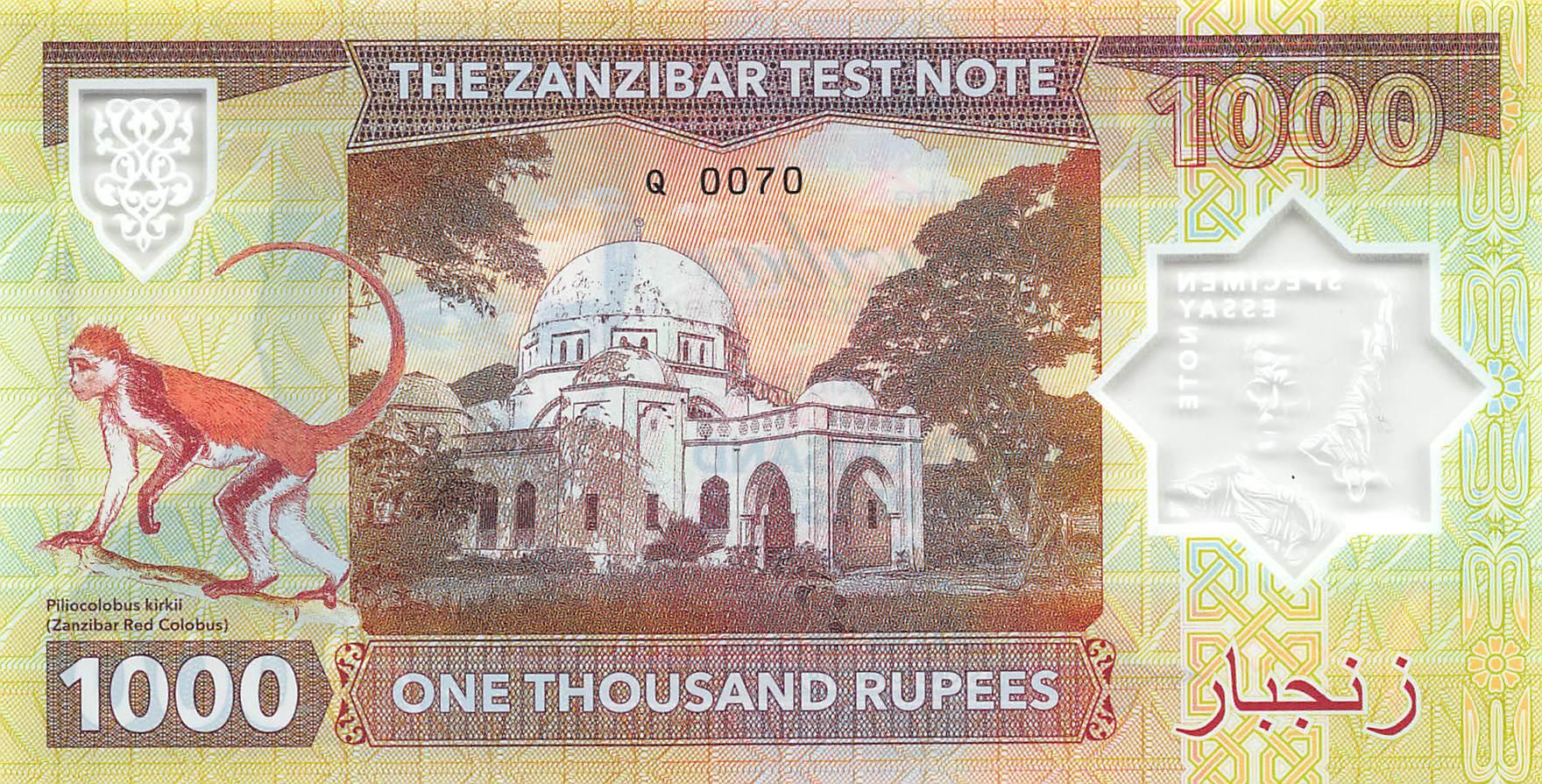 50 Rupees Error Freddie Mercury Private Issue UNC Tanzania Zanzibar 2018