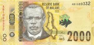 5 Kwacha Malawi UNC P-24 24b 1994