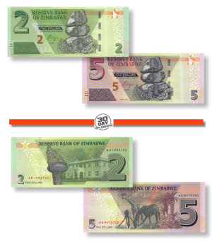 500,000 5 x Zimbabwe 500000 Dollar banknotes-paper money currency-About UNC